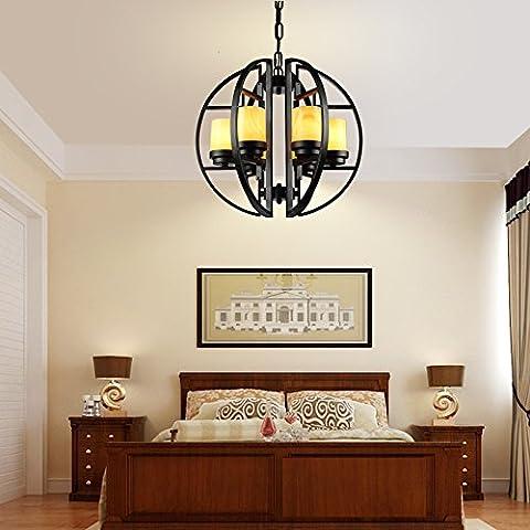 MSUXT Iluminación colgante Salón moderno chino clásico de mármol de hierro lámparas de vela salón de estilo americano con habitaciones de estilo contemporáneo y minimalista restaurante mármol