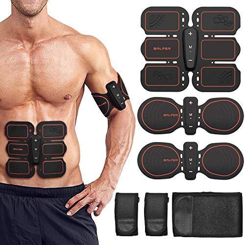 BALFER Stimolatore Muscolare, Elettrostimolatore Addominali Uomo e Donna, Braccia, Gambe, Ems Fascia...