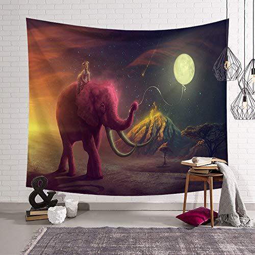MiaoFan Patrón de Elefante Estampado Tapiz Colgante de Pared Casa Cama Estera...