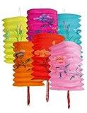 Boland Chinesische Lampions Party-Deko 12 Stück Bunt 16cm Einheitsgröße