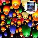 20 PCS Lanterne Volanti,Doris Direct 7 Colori Lanterne Volante Lanterne Cinesi-100% Biodegradabile per Natale, Capodanno, Capodanno Cinese, Matrimonio e Festa Che Desiderano Luci