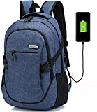 LHZY Computer Rucksack wasserdicht Polyester Business Laptop Rucksack mit USB-Ladeanschluss