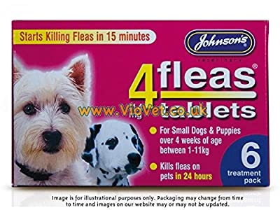 4Fleas Tablets for Dogs - Small Dogs & Puppies (1-11kg) - pack of 6 by Johnsons