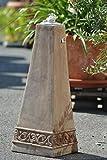 Kunert-Keramik Terracottapyramide,Säule als Öllampe,Höhe 63cm