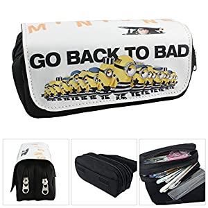 Estuche Escolar La caja de lápiz para la escuela dos compartimentos Minions Gru: Mi villano favorito 3 Go Back