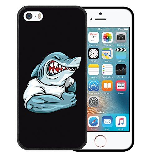 iPhone SE iPhone 5 5S Hülle, WoowCase Handyhülle Silikon für [ iPhone SE iPhone 5 5S ] Fußball, der den Wand bricht Handytasche Handy Cover Case Schutzhülle Flexible TPU - Schwarz Housse Gel iPhone SE iPhone 5 5S Schwarze D0054