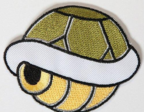 atch grün gesticktes Eisen auf Abzeichen Aufnäher Kostüm Cosplay Mario Kart/SNES/Mario World/Super Mario Brothers/Mario Allstars (Koopa Shell Kostüm)