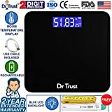 Dr Trust (USA) Electronic Zen Rechargeable Digital Personal Weighing Scale for Human Body with Temperature Display