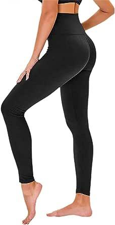 TNNZEET Lot de 3leggings opaques, pour femme, taille haute, serre-ventre, pantalons de course, de fitness, de sport, pour le yoga, les loisirs