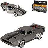 alles-meine.de GmbH Dodge Ice EIS Charger R/T Dom´s Muscle Cars Coupe Grau The Fast and Furious 8 F8 1/32 Jada Modell Auto