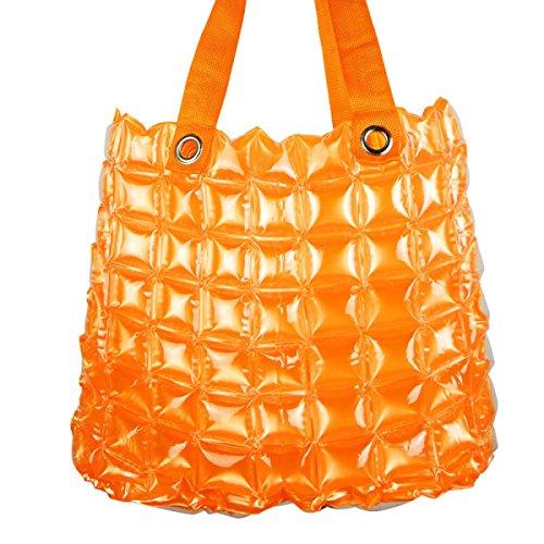 PVC Sacca Gonfiabile Spiaggia Shopping Donne Colore Della Caramella Impermeabili Portatili Borse Per La Spesa Orange
