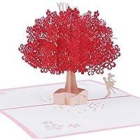 Mengger Tarjeta de Felicitación Emergente 3D Cumpleaños Regalo Hecho a Mano para Feliz Navidad Aniversario Amistad