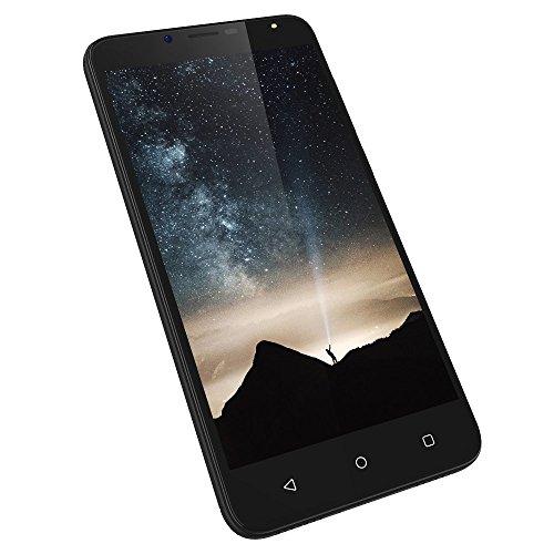 Wieppo Smartphone Libres Baratos 4G, S6 Teléfono móvil Dual SIM con Pantalla DE 5.5 Pulgadas HD 1280 * 720, Doble Cámara 8MP+5MP, 2GB RAM 16GB ROM, Android 7.0, Batería de 3000mAh (Negro)