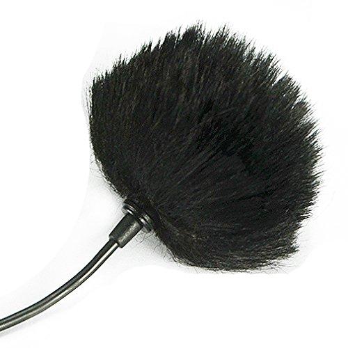 First2savvv TM-D11-B01 Bonnette anti-vent Furry à l'extérieur pour enregistreurs numériques portables pour BOYA BY WM8 WM6 WM5 GM10 M40D M1 LM20 Saramonic UwMic9 UwMic10