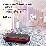 Sportstech Vibrationsplatte VP200 mit Bluetooth, innovativer Oszillationstechnologie für zu Hause, inkl. Poster + Trainingsbändern + Fernbedienung + Integrierter Lautsprecher im Vibrationsgerät - 8