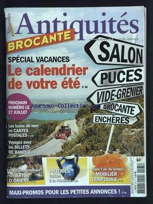ANTIQUITES ET BROCANTE [No 165] du 01/07/2012 - SPECIAL VACANCES - LES BAINS DE MER EN CARTES POSTALES - LES BILLETS DE BANQUE - LE CHARME DES ARTS D'ORIENT - POTERIES DE PROVENCE - LE MOBILIER GONFLABLE