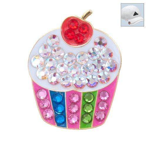 Bonjoc Swarovski Crystal Golf Ball Marker & Hat Clip-Cupcake