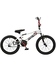 'Rooster Radical 18 BMX Bike Purple/White with 18 Spoke Wheels (White, Red)