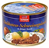 Werner Simon Schweine-Gulasch, 6er Pack (6 x 500 g Dose)