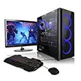 Megaport Super Méga Pack - Unité Centrale PC Gamer Complet 8-Core AMD FX-8300 • Ecran LED 22' • Clavier et Souris Gamer • GeForce GTX 1050Ti • 16Go • 1To • Windows 10 Ordinateur de Bureau PC Gaming