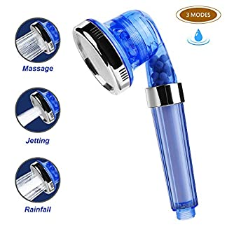 Zorara – Alcachofa de ducha, ducha de mano, doble sistema de filtro, 3 tipos de chorro, desmontable, alta presión, alcachofa de ducha, ahorro de agua, alcachofa de ducha de mano
