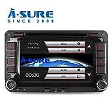 A-SURE 2 Din Bluetooth 3G DAB+ Autoradio Navi DVD GPS Radio RDS Mirrorlink VMCD Für VW Passat Golf 5 6 Touran Tiguan Transporter Multivan T5 ZTW7Q 2-Jahre-Garantie