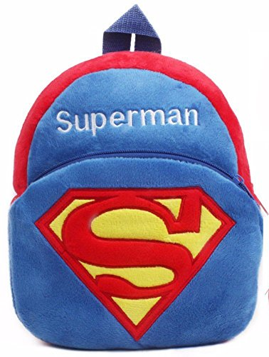 Richy Toys Superman Cute Kids Plush Backpack Cartoon Toy Children\'s Gifts Boy/Girl/Baby/Student Bags Decor School Bag For Kids