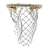 Sharplace Gold Strass Stirnband mit Schleier Damen Kopfschmuck Party Haar Accessoire