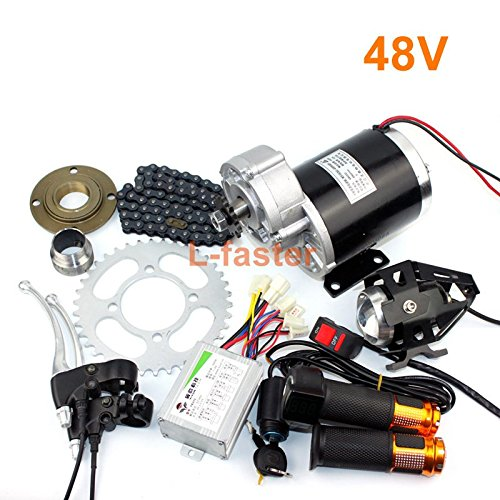 L-faster 36V48V 600W Electric Brush Gear Motor Kit MY1020Z Electric Pedicab Economical Conversion Kit High Quality Trishaws Engine System (48V twist kit)