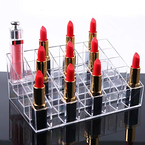 Tyro Lipstick Holder 36 and 40 Spaces Clear Acrylic Lipstick Organizer Display Stand Cosmetic Makeup Organizer for Lipstick Brushes