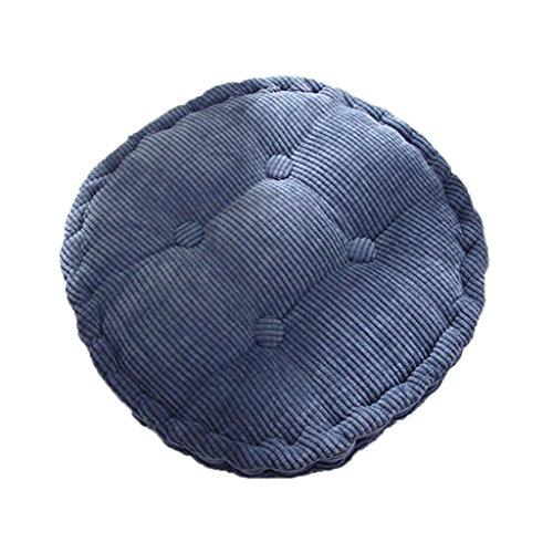 Generic Rund Baumwolle Komfort waschbar Stuhl Sitzkissen Polster Tatami Kissen Für Haus Auto Büro , 40x10 cm - Blau, 40X10cm -