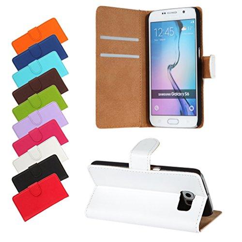 BRALEXX A12643 Bookstyle Tasche für Samsung Galaxy S6 920F weiß