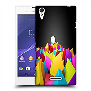 Snoogg Colorful Blocks Designer Protective Back Case Cover For SONY XPERIA T3