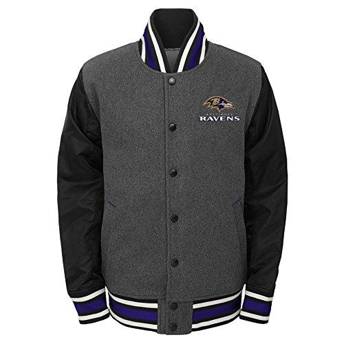 ungen NFL Youth Letterman Varsity Jacke, Jungen, NFL Youth Boys Letterman Varsity Jacket, anthrazit ()
