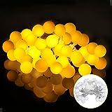 LED Lichterkette mit batterie 5M 40er, Globe Lichterkette Warmweiß, Lichterkette glühbirnen mit 8Modi und Timer, Lichterkette innen für Weihnachten / Hochzeit / Party