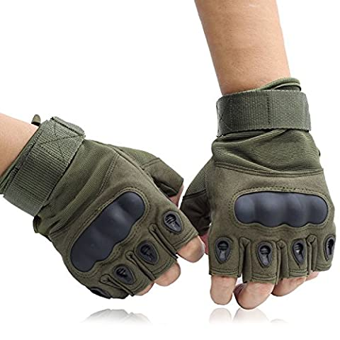 OMGAI Special Fingerless Gloves for Motorcycle Hiking Outdoor Sports