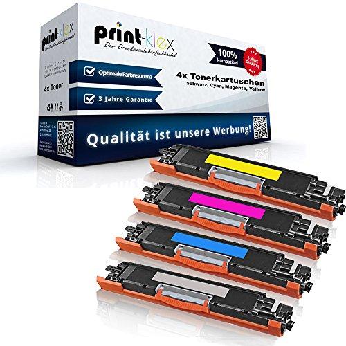 Color Laserjet Print Cartridge (Print-Klex 4x Kompatible Tonerkartuschen für HP Color LaserJet Pro MFP M176n Color Laserjet Pro M177fw CF350 CF351 CF352 CF353 - Sparpack - Color Office Serie)