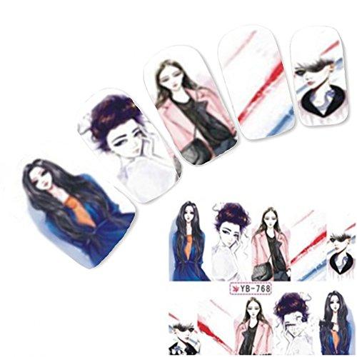 Just Fox - Tattoo Nail Art Geisha Stickers Manga Japon Anime Water decall