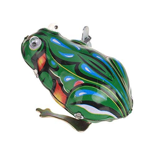 Sharplace Wind up Springender Frosch Blechspielzeug mit Schlüssel - 7,2 x 5 x 4cm (Figur Frosch-sammler)