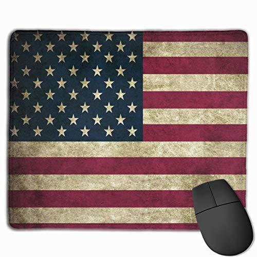 Luancrop Gaming Mouse Pad Klassische USA amerikanische Flagge Mauspads Matte Mousepad mit rutschfesten Gummi für Computer Laptop Office Zubehör Schreibtisch Dekor
