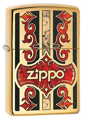Zippo Z Fusion Benzinfeuerzeug, Messing, Transparent 6 x 6 x 8 cm