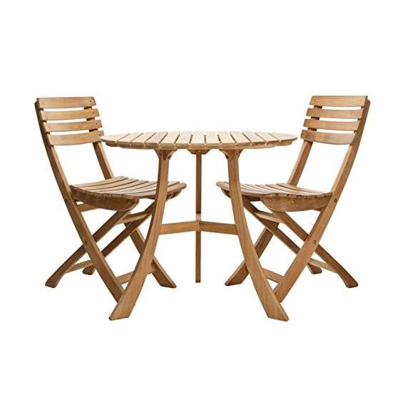 Tavolo E Sedie Da Giardino In Legno.Skagerak Vendia Tavolino E 2 Sedie Da Giardino In Legno Di Teak