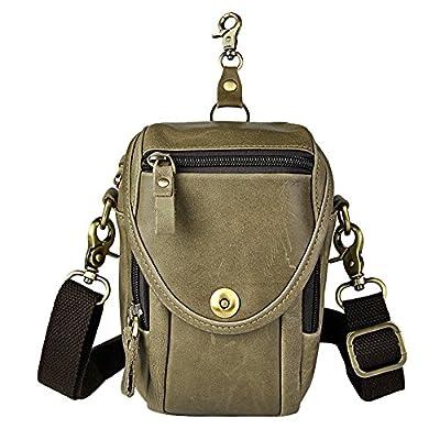 Genda 2Archer Hommes en cuir Vintage sac banane Mini sacoche besace ceinture