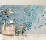 Yosot Luxuriöse Gold Blau Textur Marmor Tapete Wandbild Für Schlafzimmer 3D Wall Murals 3D Tapete-450cmx300cm