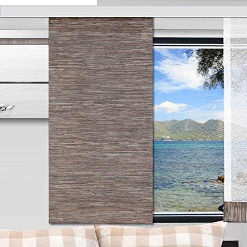 Preisvergleich Produktbild SeGaTeX home fashion Caravan-Flächenvorhang Marian 30cm breit / Höhe 60 -120cm nach Maß / braun Flächengardine für Caravan Wohnwagen Wohnmobil