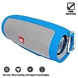 KOKAKO Silikon Tragetasche Tasche Hülle für JBL Charge3(blau)