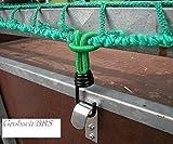 Expanderhaken für Abdecknetze 10 Stück Metallhaken Schleife Anhängernetz Metall Haken