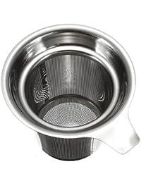 Fragrant Coladores de Té Separador de Hojas de Té Embudo del Borde Redondo Filtrar de Malla