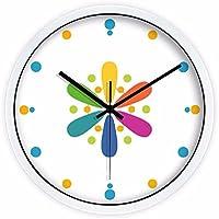ZHGI Parete dell'orologio, orologio di quarzo di colore creativo soggiorno,