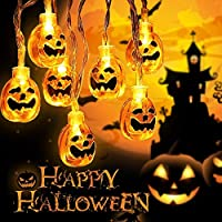 QICI Halloween String Lights, Battery Operated 19.7fts 40 LED Purple Spider Lights for Halloween Party Decoration, Ourdoor Halloween Party Decoration Lights (40 LED)